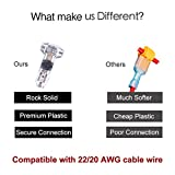 Wire Connectors - Pack of 12 low voltage wire T tap connectors T type 2 Pin solderless with no wire-stripping required for Mid-span Branching in Wires Connection 20/22 AWG Cable By brightfour