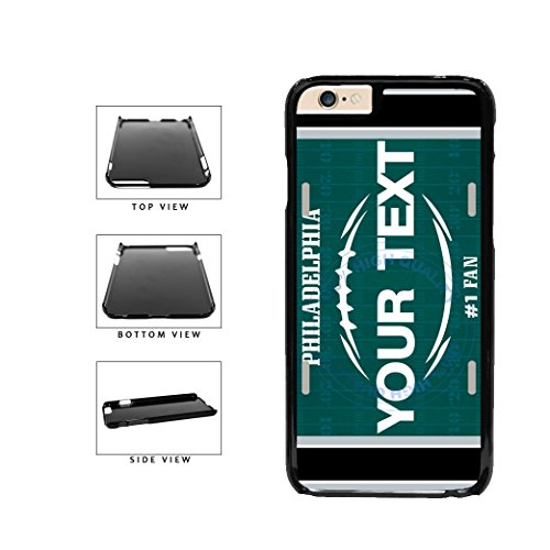 BleuReign(TM) Personalized Custom Name Football Philadelphia License Plate Plastic Phone Case Back Cover For Apple iPhone 6 Plus and iPhone 6s Plus (5.5 Inches Screen)