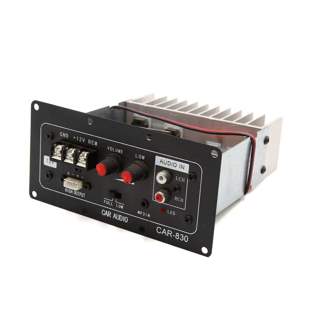 uxcell DC 12V 90W Car Vehicle Audio Stereo Power Amplifier Board Module Black
