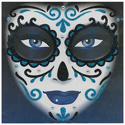 Unisex-Adults Dod-Glitter Tattoos, Blue,