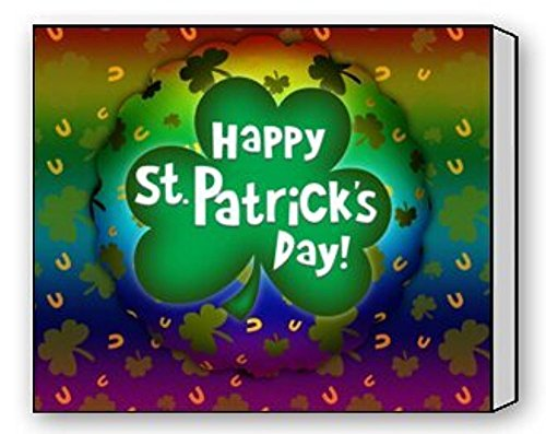Modern Art St.Patrick'S Day Gift Irish Shamrock Pattern Canvas