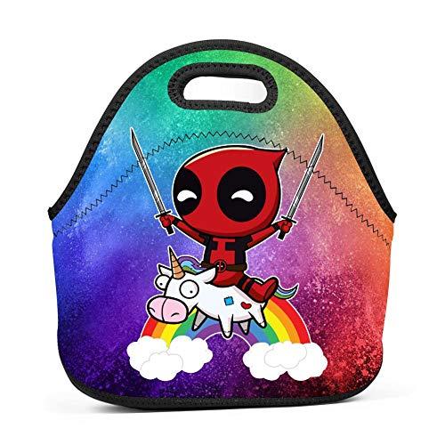 Reusable Riding Unicorn Lunch Bag Neoprene Handbag for sale  Delivered anywhere in USA