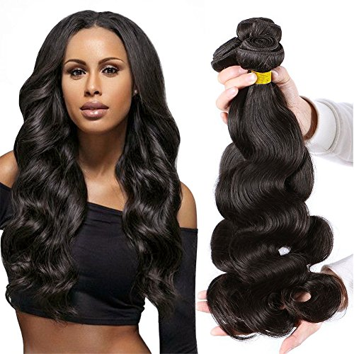 Ali Moda 7A Brazilian Body Wave 4 Bundles 100% Unprocessed Virgin Human Hair Weave Hair Extensions Natural Color 95-100g/pc (22 22 22 22)