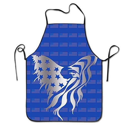 American Flag Eagle Platinum Style Kitchen Baking Apron - American Eagle Apron