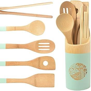 Amazon.com: Organic 6 Piece Bamboo Cooking & Serving