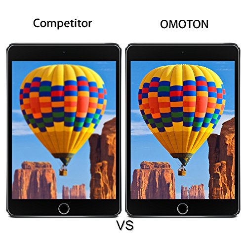 [2 pack] iPad 9.7'' (2018 & 2017) / iPad Pro 9.7 / iPad Air 2 / iPad Air Screen Protector, OMOTON Tempered Glass Screen Protector – Ultra Clear / 2.5D Round Edge/Scratch Resistant by OMOTON (Image #5)
