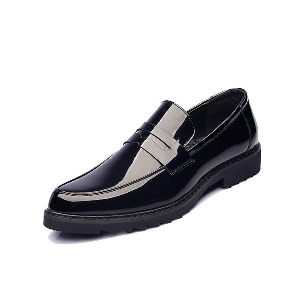 Fashion Wild Microfiber Lightweight Anti-Slip Soft Flat Stitching Pointed Toe (Patent Leather Option) Driving Loafer for Men Boat Shoes Slip on Super Cost-Effective by KELITA-SHOES
