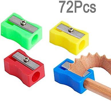Magic Show 72pcs / Colores Pack Surtido de plástico sacapuntas Surtido CJ543: Amazon.es: Juguetes y juegos