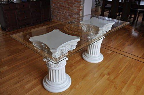 Mesa de cristal mesa cuadro cocina mesa columna griega Diseño ...