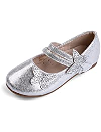 EKM701 Toddler & Girl's Ballet Flats Mary Janes Dress Shoes