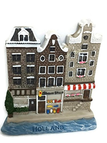 Old Wooden Shoes Shop Dutch. Houses Holland SOUVENIR RESIN 3D FRIDGE MAGNET SOUVENIR TOURIST GIFT