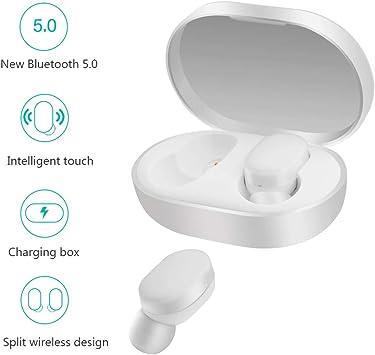 Xiaomi Mi Airdots Auriculares Inalámbricos Bluetooth 5.0 Conexión Automática Binaural (Estéreo) 12h Reducción de Sonido Botones Táctiles Cargador