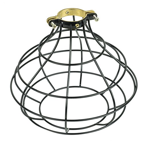 - Rustic Design Industrial Look Sphere Pendant Lamp Cage by ArtifactDesign Black