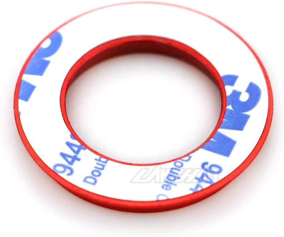 Ronglingxing Powersports Teile Motorrad Zündschloss Ring Abdeckkappe Cnc Aluminium Zubehör For Piaggio Vespa Gts 250 300 Sprint Primavera 125 150 Lx150 Color Red Auto