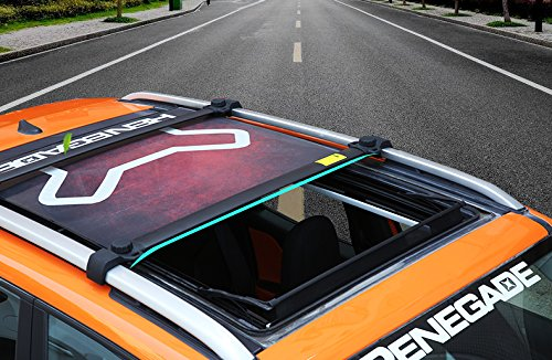 4/piezas Tejado Ferroviario para Jeep Renegade 2015/2016/2017/2018/Equipaje Equipaje portaequipajes Cross Bar Barra