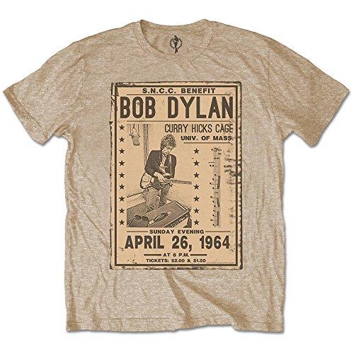 Bob Dylan Gig Flyer 1964 Rock Official Tee T-Shirt Mens Unisex (Medium)