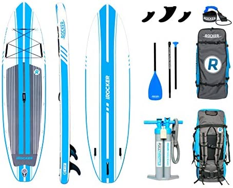iROCKER All-Around Inflatable Stand Up Paddle Board 10 11 Long 32 Wide 6 Thick SUP Package