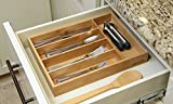 Oliva Italiana Bamboo Cutlery Tray. Perfect Drawer Storage for Any Kitchen That Needs Silverware stored Safely.