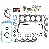 "Evergreen Engine Rering Kit FSBRR8004EVE\2\0\0 99-03 Suzuki Chervrolet 1.8 2.0 DOHC J18A J20A Full Gasket Set, Standard Size Main Rod Bearings, 0.50mm / 0.020"" Oversize Piston Rings"