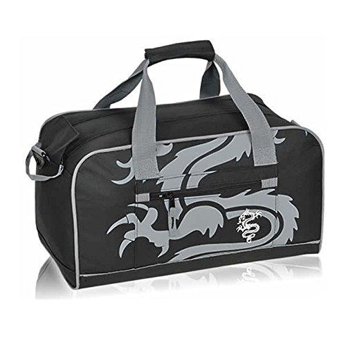 Sporttasche FABRIZIO SELECTION Schulsporttasche Tasche [ 4 FARBEN AUSWAHL ] Grey Dragon