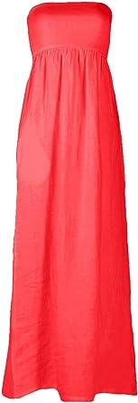 Beachcoco Tube Top Linen Maxi Dress