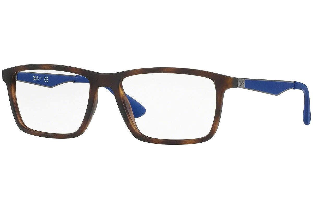 34a771ae59 Amazon.com  Ray-Ban RX7056 Eyeglasses 53-17-145 Matte Havana w Demo Clear  Lenses 5645 RB 7056 RX 7056 RB7056  Clothing