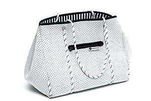 Margaux & May Multipurpose Tote Bag - XL lightweight Neoprene flexible bag (White)