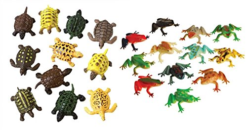 Nikki's Knick Knacks Plastic Toy Frog and Turtle Figures