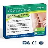 Medical Grade Silicone Scar Removal Sheets by Tatyana Naturals [7Pcs] Reusable, High-Performance Scar