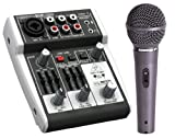 Behringer 302USB XENYX 2-Channel Compact Mixer with Samson R11 Hypercardioid Mic - Ideal for Travel