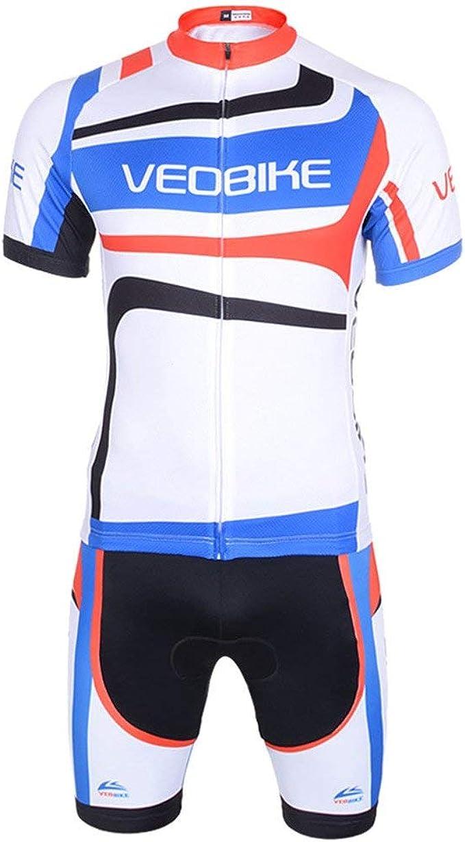 Radhose mit Sitzpolster f/ür Radsport GWELL Herren Radtrikot Atmungsaktive Fahrradbekleidung Set Trikot Kurzarm