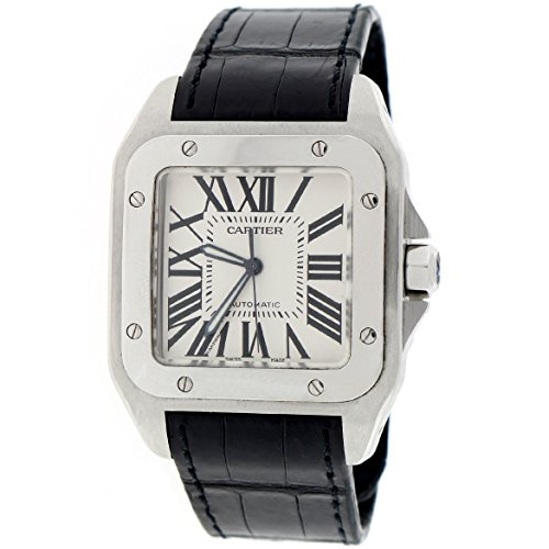 Cartier Santos 100 automatic-self-wind mens Watch ES21553040 (Certified Pre-owned)