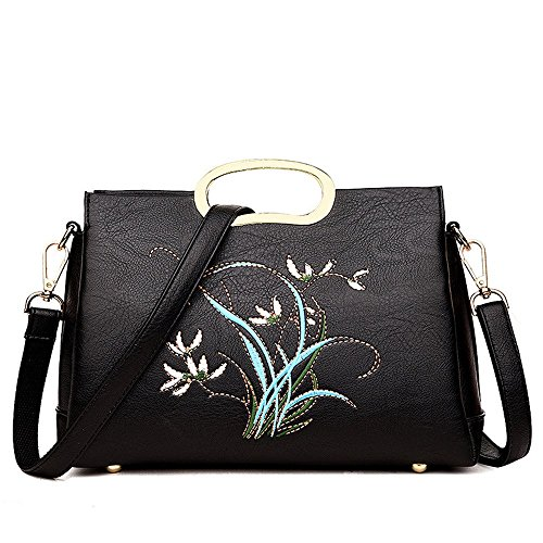 Sac Brodé Et De Dames Black Style Facile Chinois Femmes Nouveau Sac À De Mode Bandoulière De Simple Sac GWQGZ À Golden Des Travertin De Simple Main WqvwAYxnna