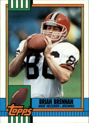 1990 Topps Football Card #160 Brian Brennan Mint