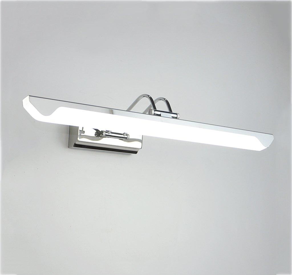 &Spiegelleuchte Led Spiegelschrank Lampe Spiegel Frontleuchte Badezimmer Badezimmer Moderne Wasserdichte Nebel Edelstahl Schminktisch Spiegelschrank Wandleuchte (Größe   43cm)