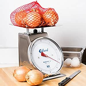 """Edlund HD-10DP Heavy-Duty 10 lb. Portion Scale with 8 1/2"""" x 8 1/2"""" Platform and Air Dashpot"""