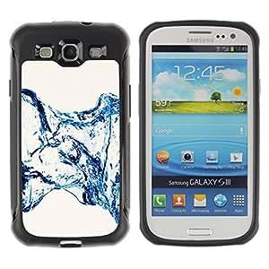 Pulsar Defender Series Tpu silicona Carcasa Funda Case para SAMSUNG Galaxy S3 III / i9300 / i747 , Water Effect Minimalist Stairs