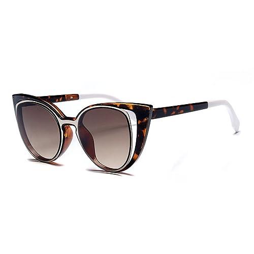 tansle plástico Fame Cateye espejo gafas de sol para mujer estilo clásico nueva funda estilo ojo de gato