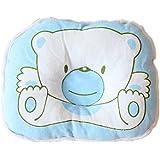 Viskey–Almohada infantil, diseño de oso o cerdito azul azul