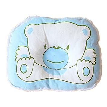 Viskey - Almohada infantil, diseño de oso o cerdito azul azul