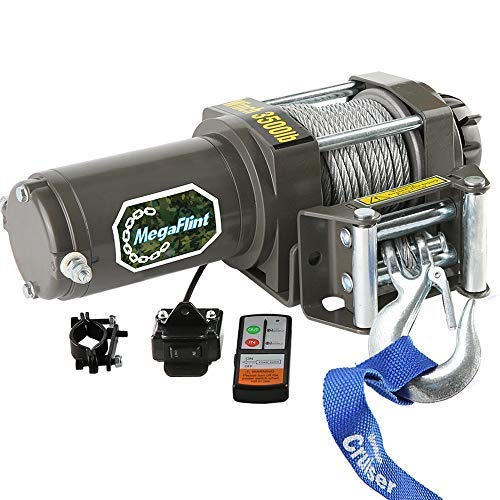 (ATV Winch 3500LBS/1590kgs Electric Winches for 12V UTV Winch Utility Winch with Both Wireless Handheld Remote and Corded Control Recovery Upgrade Winch)