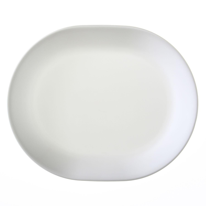 """Corelle Livingware Winter Frost White 12-1/4"""" Serving Platter"""