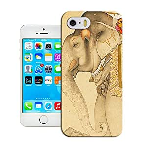 Amazing Hard Plastic iPhone 5/5s Case, Fate Inn-267.Elephant with clothes (1)-iPhone 5/5s case