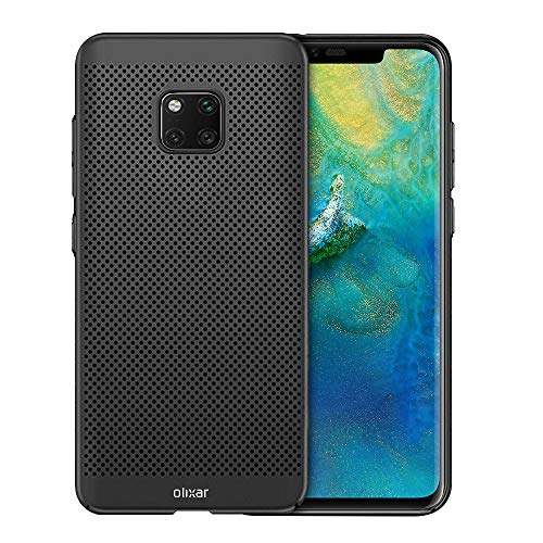 Olixar Cooling Case Compatible with Huawei Mate 20 Pro - Breathable Mesh Case - Heat Dissipating Design Meshtex - Black