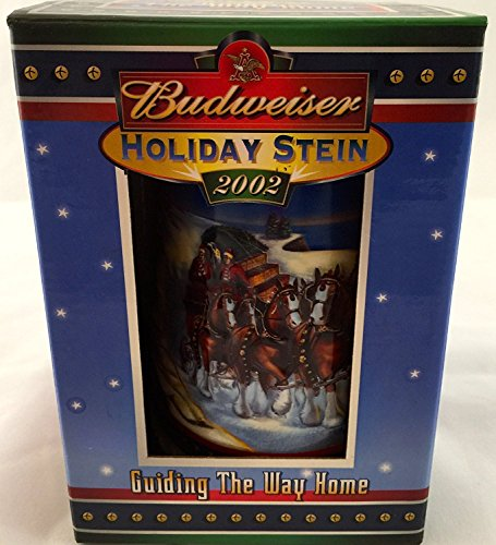 Budweiser Holiday Steins Collectible Holiday Stein Series (Year 2002)