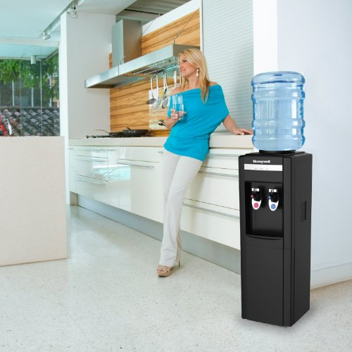 Honeywell HWB1052B Cabinet Freestanding Hot and Cold Water Dispenser with Stainless Steel Tank to help improve water taste and avoid corrosion, Child Safety Lock for Hot Water, Black by Honeywell (Image #3)