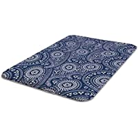Laundry Solutions by Westex Non-Skid Portable Paisley Design Ironing Board Pad, 20 x 29, Blue