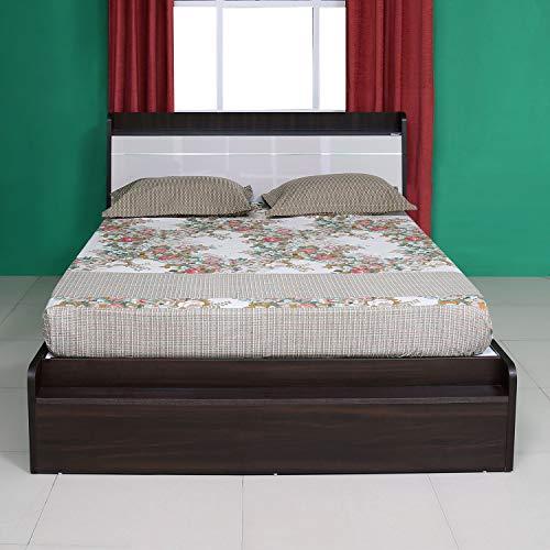 Nilkamal Toya Engineered Wood Platform Queen Bed Brown