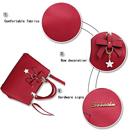 for Women Messenger PU Handbags Fantastic Wine Tote Red Fashion Zone Handbags Leather Bags Women Shoulder Bags qPUwwaYX4