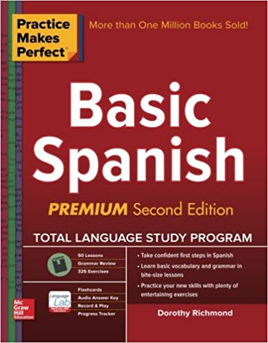Amazon practice makes perfect basic spanish second edition practice makes perfect basic spanish second edition beginner 325 exercises online flashcard app 75 minutes of streaming audio practice makes fandeluxe Image collections